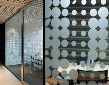 公司办公室玻璃贴膜案例